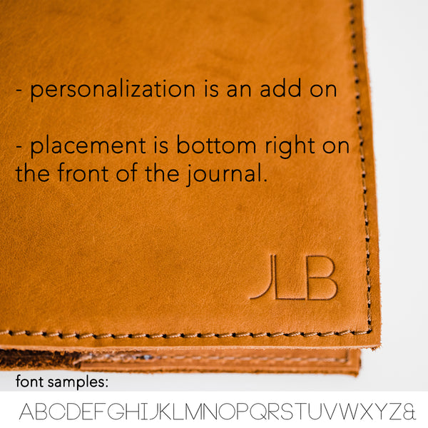 Personalization (leave up to 3 letters in notes at checkout)