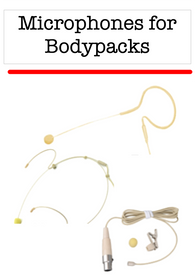Microphones for Bodypack Transmitters