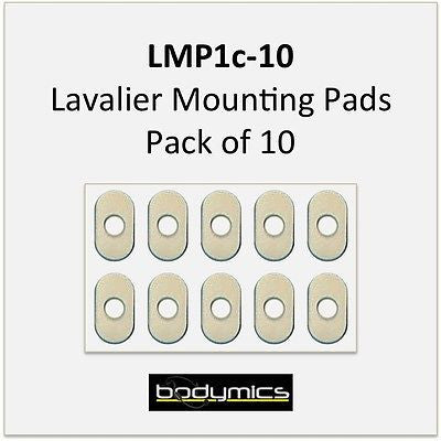 Bodymics LMP1c-10 10x Lavalier Mounting Pads - attach to body and isolate