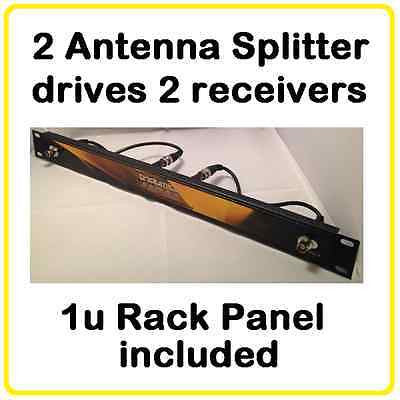 ASP22 Antenna Splitter- Wireless Mic 1u Dual 2 way -Shure, Sennheiser, AT UA221