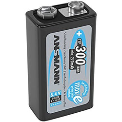 9v NiMH Batteries - Ansmann 300 mAH - 1 pack
