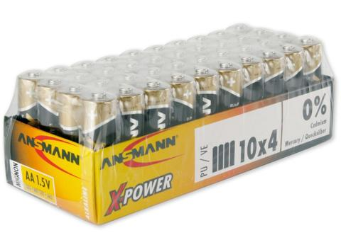 AA Alkaline Batteries - 40 pack