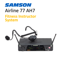 Wireless System for Fitness Instructors - Samson Airline 77 AH7 UHF with headset