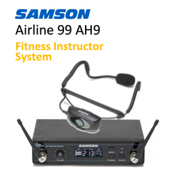 Wireless System for Fitness Instructors - Samson Airline 99 AH9 UHF with headset