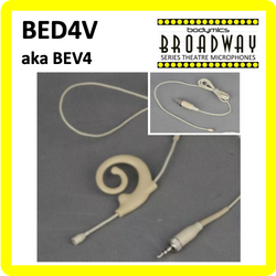 "BED4V for AKG (AK) 3/16"" Omni Flexible Adjustable Length Boom Earset Mic - Cream or Black BEV4c-AK BEV4b-AK BED4Vc-AK BED4Vb-AK (Bodymics Broadway)"