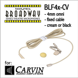 "BLF4 for Carvin (CV) 3/16"" Omni Hairline/Lavalier Mic - Cream or Black BLF4c-CV BLF4b-CV BLF4c-CV BLF4b-CV (Bodymics Broadway)"