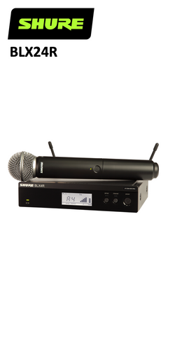 Shure BLX24R Rack Mount Handheld Wireless System