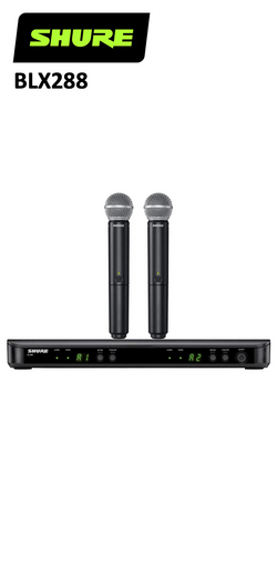 Shure BLX288/PG58-H9/H10 or J10 Dual Handheld Wireless System