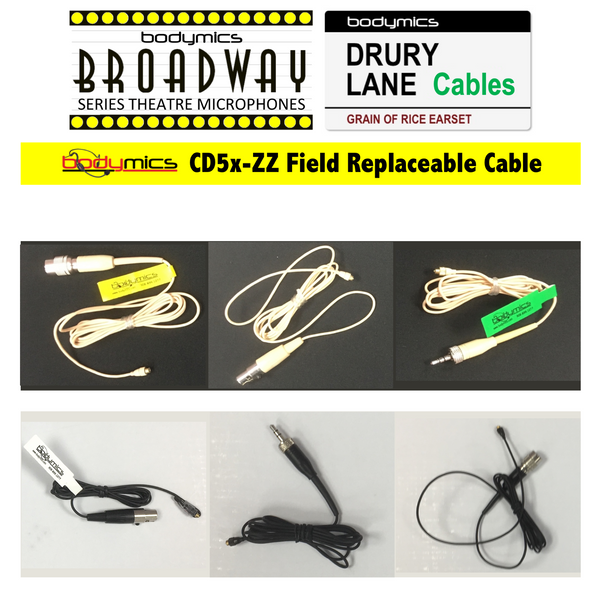 CD5 Cable: Field Replacement Cable for Broadway & Drury Lane Mic Elements - CD5 Spare
