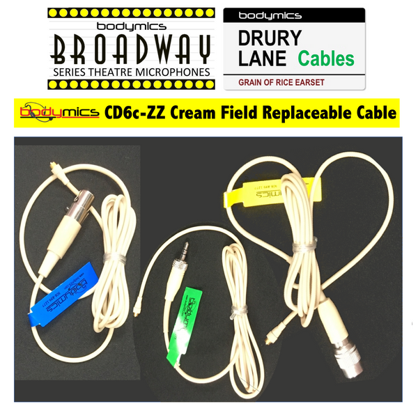 CD6 Cable: 2.2mm Field Replacement Cable for Broadway & Drury Lane Mic Elements - CD6 Spare