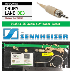 "DE3-SE for Sennheiser 1/10"" (<3mm) Omni Select Standard Child or Short Boom Earset Mic - Cream"