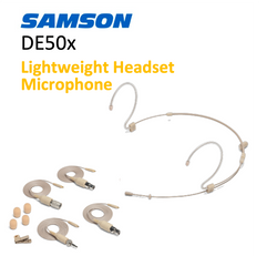 DE50X - Samson 2.5mm (3.5mm outside) Headset Omni Cream - 4 cables AKG, AT, Sennheiser, Shure