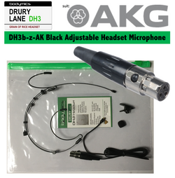 "DH3 Headset 1/10"" (<3mm) omni capsule, adjustable headband, black or cream  for AKG"