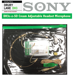 "DH3 Headset 1/10"" (<3mm) omni capsule, adjustable headband, black or cream  for Sony"