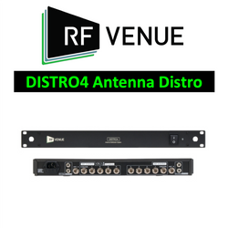 RF Venue Wireless DISTRO4 wideband antenna distribution with Cascade 470-952MHz
