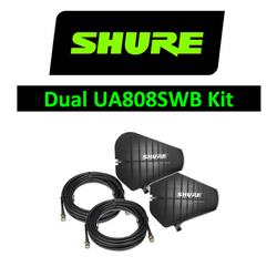 Shure Wireless Dual UA805SWB LPDA Directional Passive Antenna Paddle UHF Kit with cables