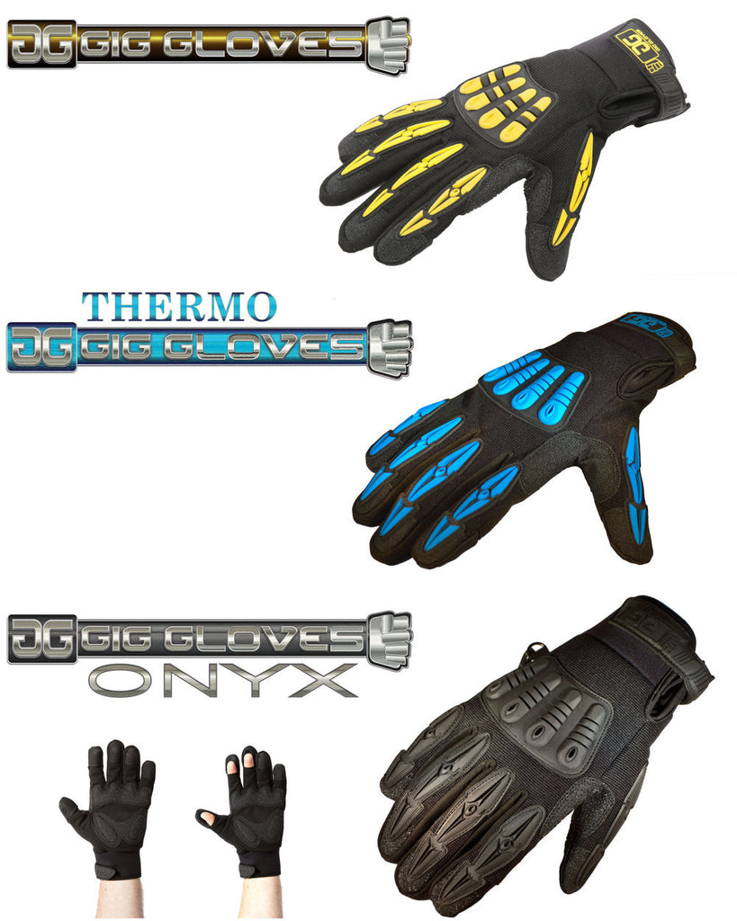 Gig Gloves - 3 styles 6 sizes - the BEST protection for theatre techs