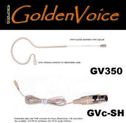 GV350c-zz: Earset Headset Microphone Cream  -suit many systems - Bodymics GoldenVoice