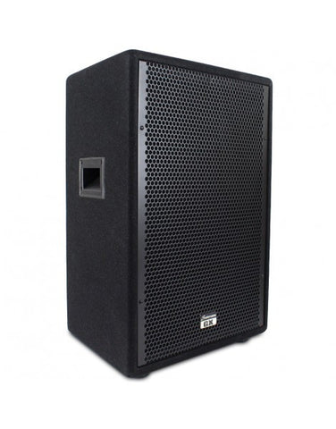 "Studiomaster GX15 - 250w 2 way 15"" trapezoidal passive speaker box"