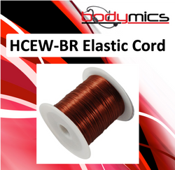 c. HCEW-xx black, brown or clear elastic cord for HCC hair clips to hold hairline mics in place