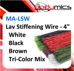 c. Lavalier Stiffening Wire- MA-LSW in white, brown & black - to allow lav to be adjusted in ear or hair rig