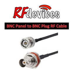 "RF Cable  - BNC Panel-BNC all metal - 6"", 8"", 12""  RG174 50ohm"