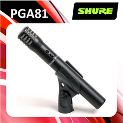 Shure PGA81-LC Cardioid Condenser Instrument Microphone (Less Cable)