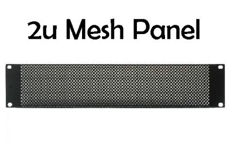 2u Mesh Vented Rack Panel (RPM2u) - Quantity Discounts Apply - (RPDA)
