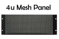 4u Mesh Vented Rack Panel (RPM4u) - Quantity Discounts Apply - (RPDA)