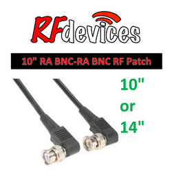 "RF Cable  - Right Angle BNC-Right Angle BNC - 10""/25cm, 14""/35cm  RG174 50ohm"