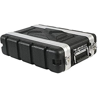 "Rackcase Shallow 2u ABS - 8.2"" Rail to Rail 12.1"" overall - Storage Pouch in Lid (RFdevices)"