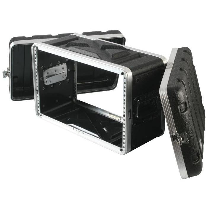 "Rackcase Shallow 6u ABS - 8.2"" Rail to Rail 12.1"" overall - Storage Pouch in Lid (RFdevices)"