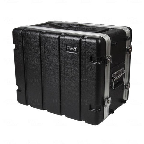 "Rackcase Medium 8u ABS - 12"" Rail to Rail 16"" overall - Storage Pouch in Lid (RFdevices)"