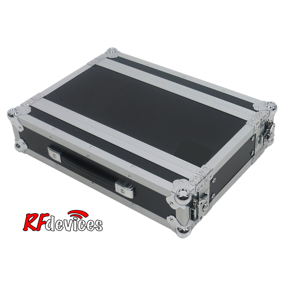 "Rackcase Medium 2u ATA - 12"" Rail to Rail 18.5"" overall - Storage Pouch in Lid (RFdevices)"