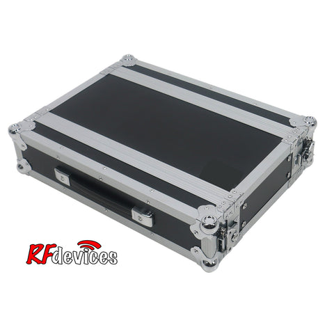 "Rackcase Shallow 2u ATA - 10"" Rail to Rail 16.5"" overall - Storage Pouch in Lid (RFdevices)"