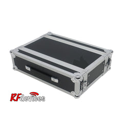 "3u ATA Ply/Aluminum Shallow Rack - 10"" Rail to Rail 16.25"" overall - Storage Pouch in Lid (Stow'd)"
