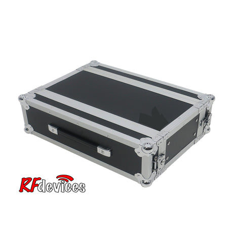 "Rackcase Shallow 3u ATA - 10"" Rail to Rail 16.25"" overall - Storage Pouch in Lid (RFdevices)"