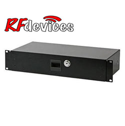 "2u  Rack Drawer - 8.3"" Shallow with lock RC-D08-2u  (Rd)"