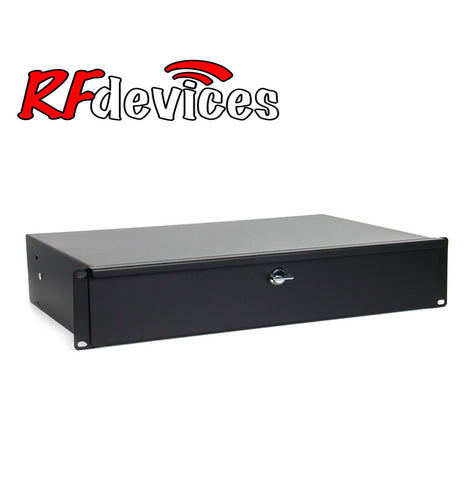 "2u Rack Drawer - 11"" Shallow with lock RC-D11-2u  (RD)"