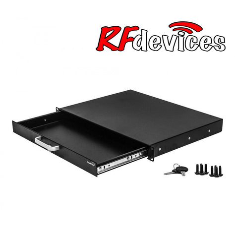 "1u Rack Drawer - 13"" with lock RC-D13-1u  (RD)"