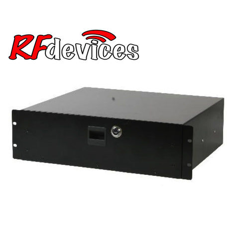 "3u Rack Drawer - 18"" with lock RC-D18-3u  (RD)"