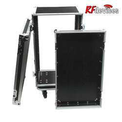 "16u Rack ATA Ply/Aluminum (Effects) - 12"" Rail to Rail 20"" overall -casters  (Stow'd)"