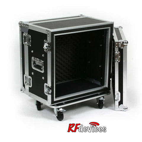 "Shockmount Rackcase Medium 12u ATA - 12"" Rail to Rail 20"" overall -casters  (RFdevices)"
