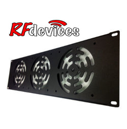 "3u Rack Panel - 3x 4"" fans 110v -  RP-FAN3-3u (RPDA)"