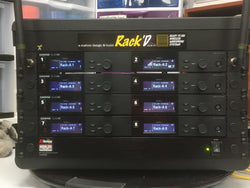 Rack'd Fly Case SLXD (Shure) 8 Channel Ready to Use Wireless System - just 2 antennas in an SKB Rack in a Case