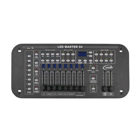 Lighting DMX Controller 64 channels in 8 groups - small shows only