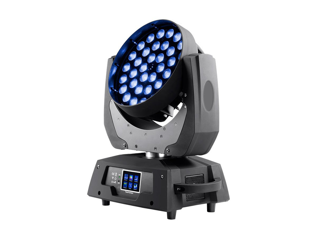 Lighting wash - 360w 36x RGBW LED MOVING HEAD Fixture 12 or 16 DMX channels  10-50degree SLM360-RGBW