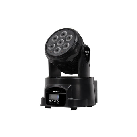 Lighting wash - 56w 7x RGBW LED MOVING HEAD Fixture 9 or 14 DMX channels  10-50degree SLM56-RGBW
