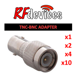 ZPLUG ADAPTER: TNC:BNC Adapter - convert TNC panel to BNC panel - single, 2, 4 or 10 pack