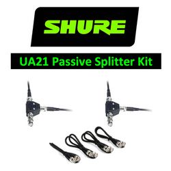 Shure Wireless UA221 Passive 2 way Antenna Splitter with cables UHF